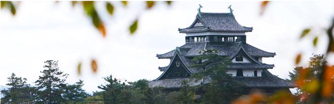 千手院から望める松江城